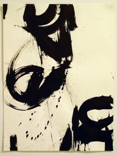 "Karin Soika, Homage to Shirley Horn Series #1, 2, Ink on Paper, 22"" x 16"", 2003"